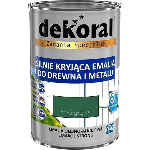 Emalia olejno-alkidowa Dekoral Emakol Strong zielony soczysty 0,9l