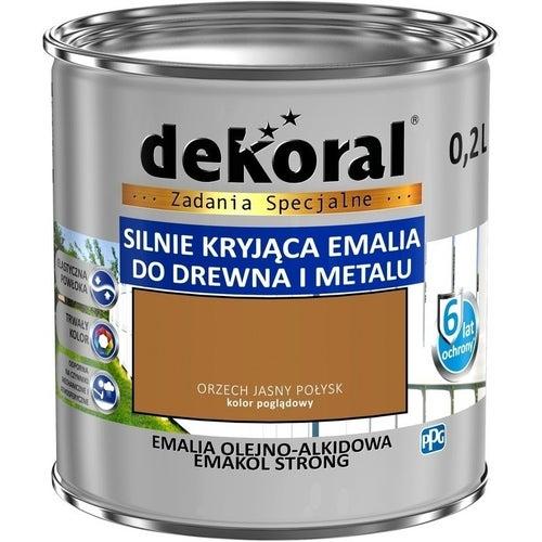 Emalia olejno-alkidowa Dekoral Emakol Strong orzech jasny 0,2l