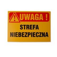 Znak informacyjny STREFA NIEBEZPIECZNA Tb-38 K