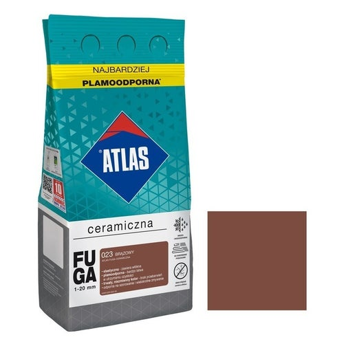 Fuga ceramiczna Atlas 023 brązowy 5kg