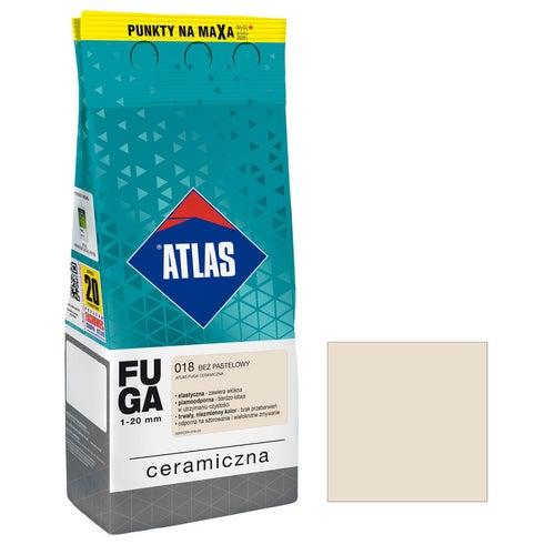 Fuga ceramiczna Atlas 018 beż pastelowy 2kg