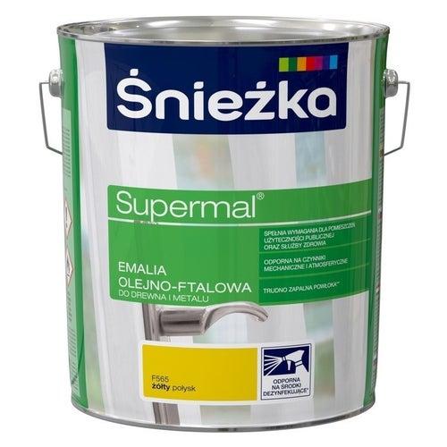 Emalia olejno-ftalowa Śnieżka Supermal żółty 10l