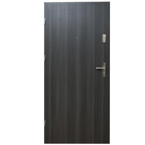 Drzwi wejściowe Dioryt Plus 90 lewe dąb grafit