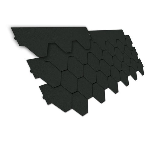 Gont bitumiczny trapez, grafitowy, 3 m2 wym. 80x28,5 cm