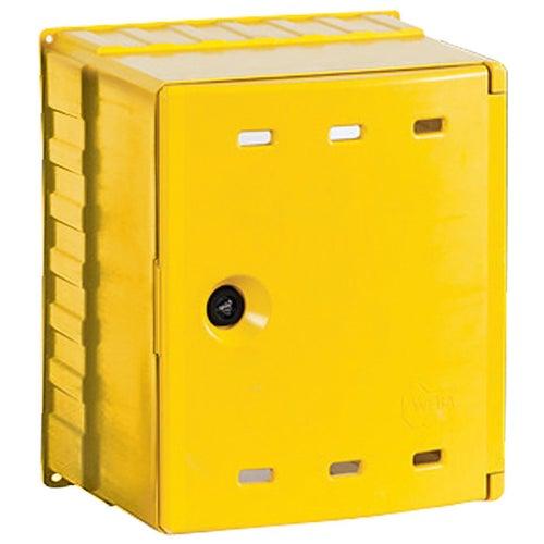 Skrzynka gazowa na zawór żółta