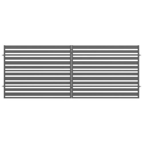 Brama ogrodzeniowa dwuskrzydłowa Ksenia antracyt, 150x400 cm, z automatem do bram
