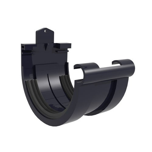 Złączka rynnowa G125, grafitowa PVC Scala Plastics