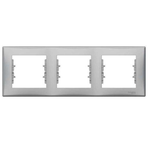 Schneider Sedna aluminium ramka potrójna