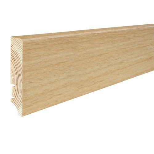 Listwa przypodłogowa drewniana prosta 2200x78x17mm Dąb