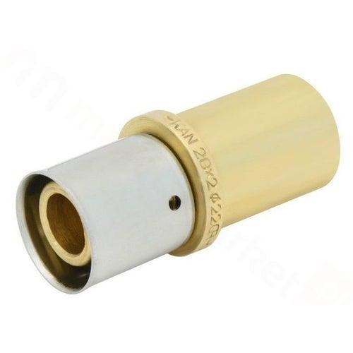 Kan Press Łącznik mosiężny nyplowy 16x15 mm