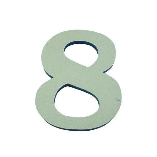 Cyfra 8 samoprzylepna oliwkowa 50 mm
