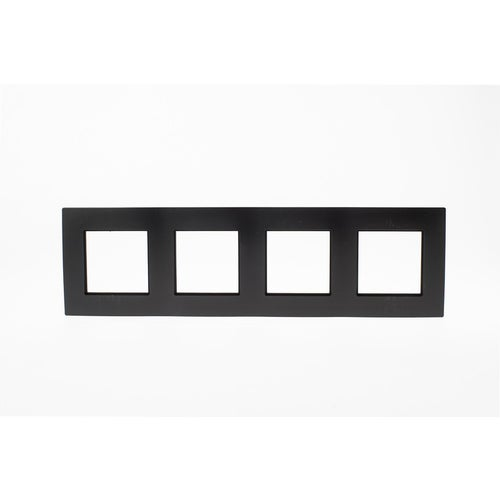 Polmark Rosa czarny mat ramka czterokrotna