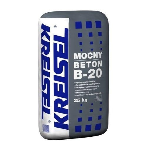 Zaprawa cementowa Mocny Beton B-20 Kreisel 25 kg, podkład podłogowy, 25-80 mm