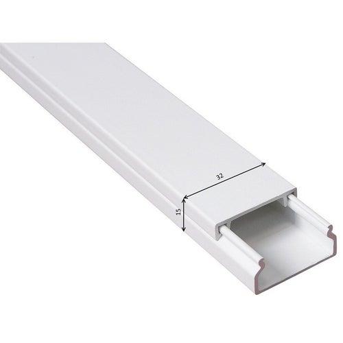 Listwa kablowa MKE 15x32mm UV biała 2m