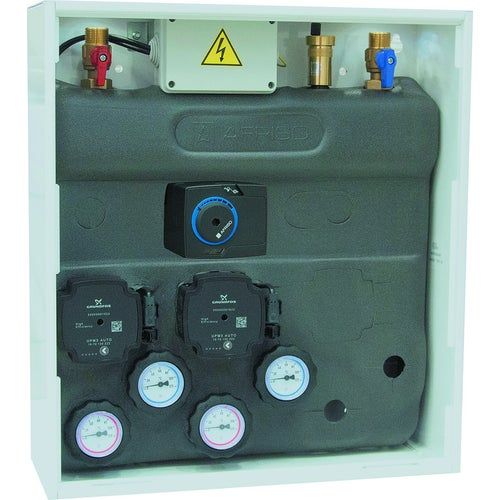 Zestaw mieszający PrimoBox AZB 205 w szafce bez mieszania, z pompami Grundfos, zaworem obrotowym i siłownikiem ARM 141 (7620500)