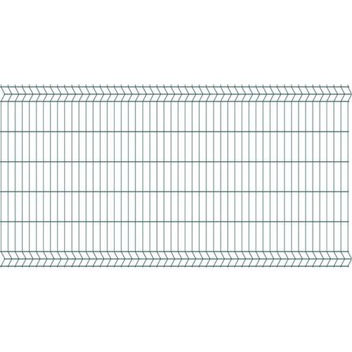 Panel ogrodzeniowy 3D zielony, 123x250 cm, oczko 75x200 mm, drut 3.2 mm
