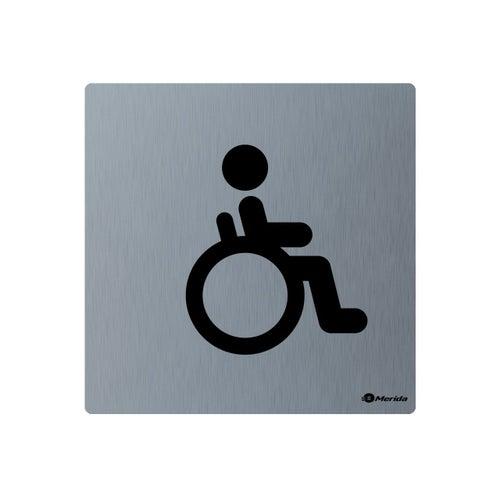 Merida piktogram ze stali nierdzewnej Toaleta niepełnosprawni GSM009