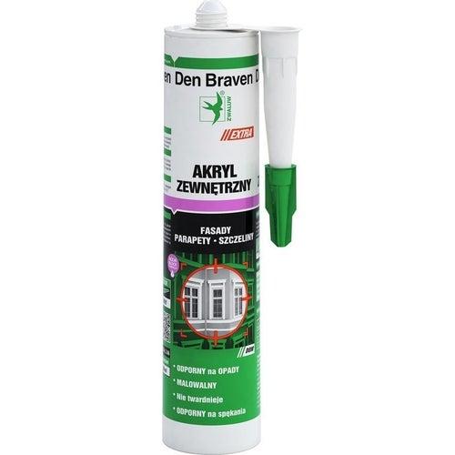 Akryl zewnętrzny Den Braven biały 280ml