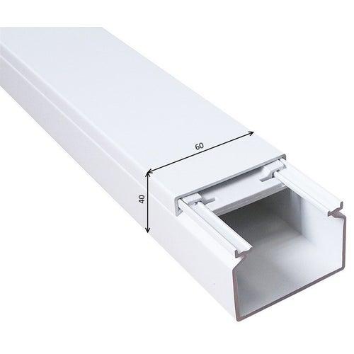 Listwa kablowa KE 40x60mm UV biała 2m