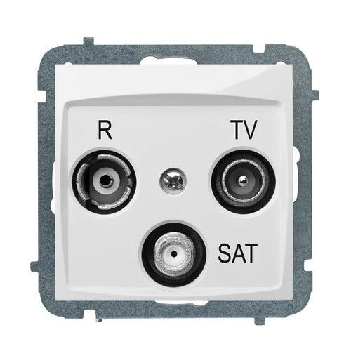 Elektroplast Carla biała gniazdo antenowe R-TV-SAT końcowe