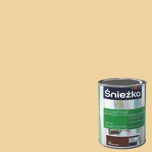 Emalia olejno-ftalowa Śnieżka Supermal krem 0,8l