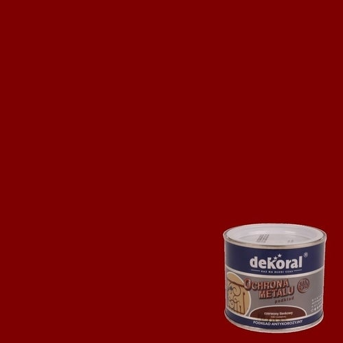 Podkład antykorozyjny Dekoral czerwony 0,5l