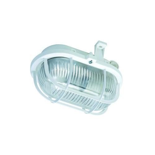 Oprawa Oval 60W E27 IP44 siatka plastik biała