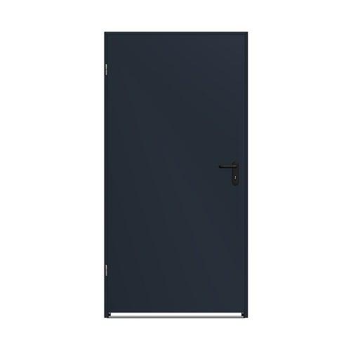 Drzwi techniczne zewnętrzne Zk Iso 80 cm, ocieplone styropianem, antracytowe