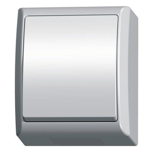 Ospel Fala biały łącznik pojedynczy IP44
