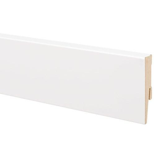 Listwa przypodłogowa MDF 2000x75x16mm lakierowana Biała