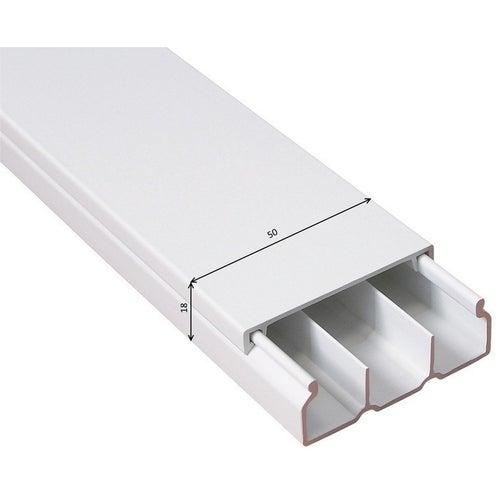 Listwa kablowa MKE 18x50mm 3 kanały UV biała 2m
