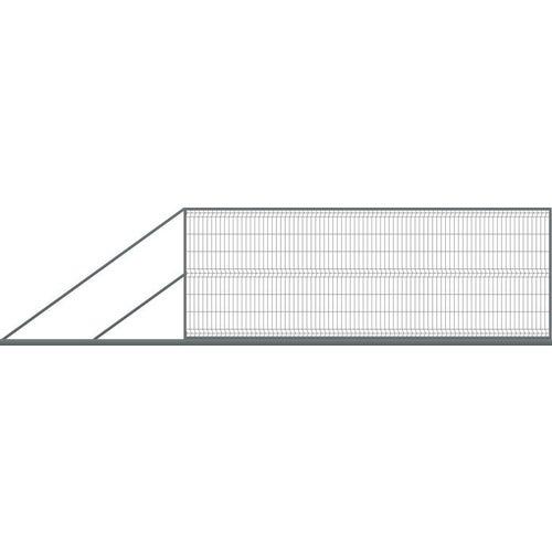 Brama ogrodzeniowa panelowa przesuwna antracyt, 150x400 cm, lewa