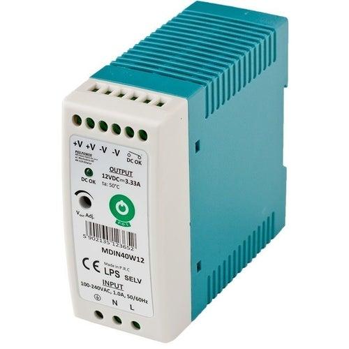 Zasilacz LED 40W 12V na szynę TH36