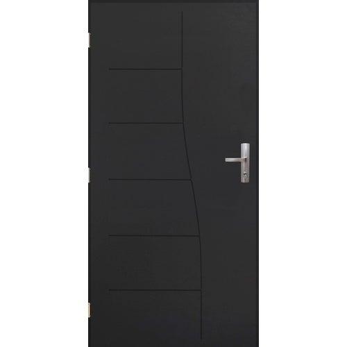 Drzwi zewnętrzne pełne antywłamaniowe Turyn 80 cm lewe antracyt