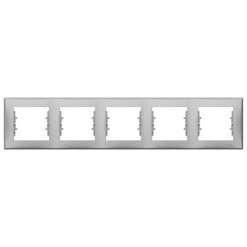 Schneider Sedna ramka aluminum pozioma pięciokrotna