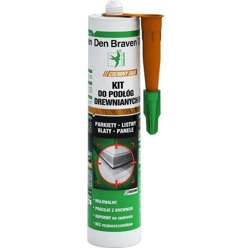Kit do podłóg drewnianych Den Braven ciemny dąb 300ml