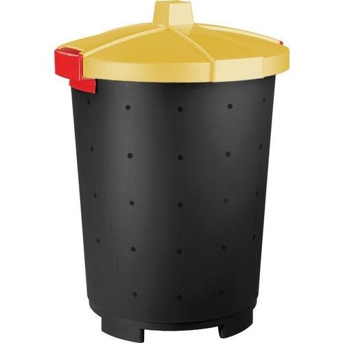 Kosz na śmieci Mattis 45 l żółty