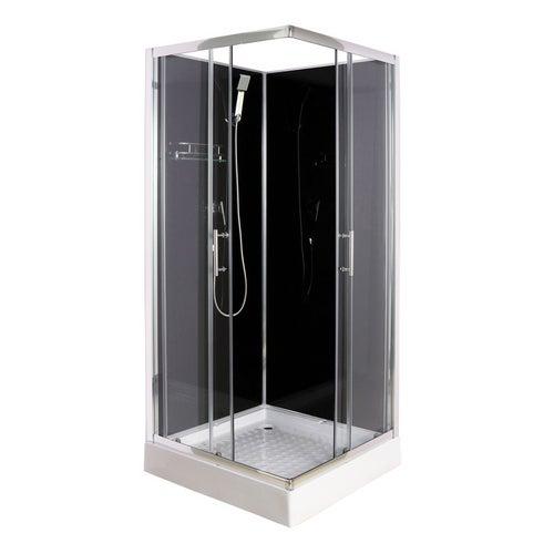 Kabina prysznicowa Savana Liza Black 90x90 z brodzikiem