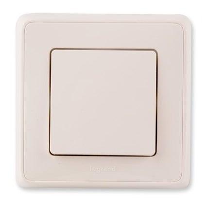 Legrand Cariva biały przycisk dzwonek/światło z ramką