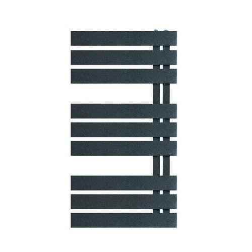 Grzejnik łazienkowy Nameless 90x50 cm, grafitowy struktura