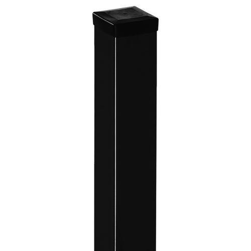 Słupek bramowy czarny, 200 cm/ 100x100 mm