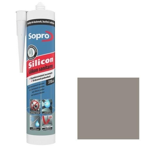 Silikon sanitarny Sopro 34 piaskowo szary 310ml