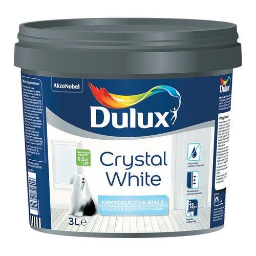 Farba Dulux Crystal White biała 3l