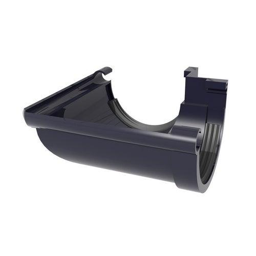 Łącznik kątowy zewnętrzny G80, grafitowy PVC Scala Plastics