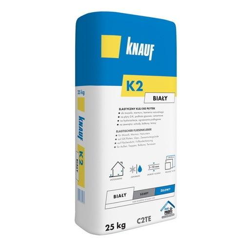 Zaprawa klejowa do płytek Knauf C2TE K2 biała 25 kg