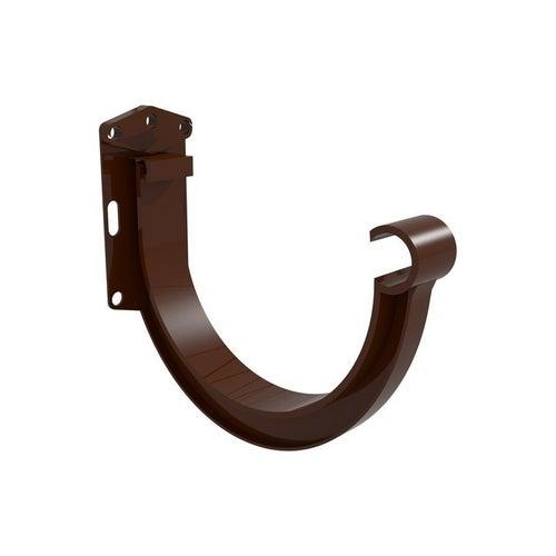 Hak rynnowy wzmocniony G125, brązowy PVC Scala Plastics