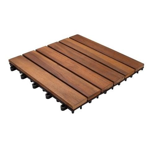 Podest tarasowy, drewniany, 6-lamelowa, wym. 300x300 mm, akacja