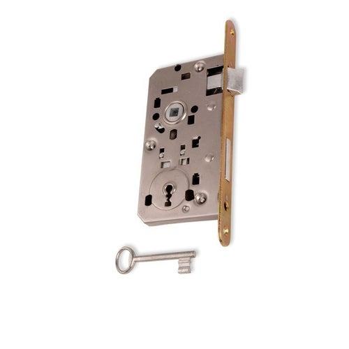 Zamek wpuszczany Eco na klucz 90/50 mm