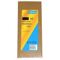 Papier ścierny 93x230 mm P120, 5 szt.