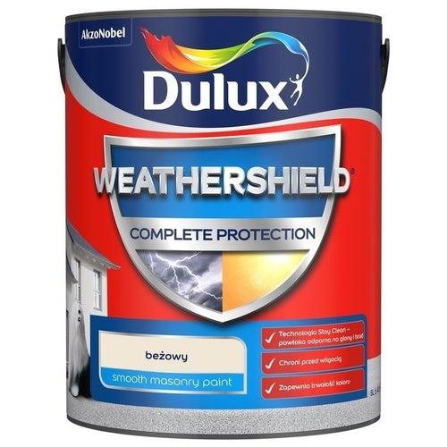 Farba fasadowa Dulux Weathershield Complete beżowy 5l